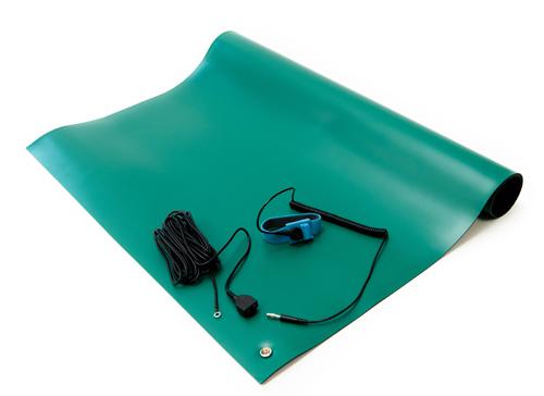 esd soldering rubber mat kit green